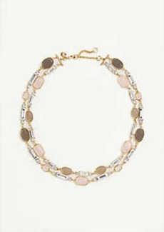 Ann Taylor Crystal Stone Statement Necklace