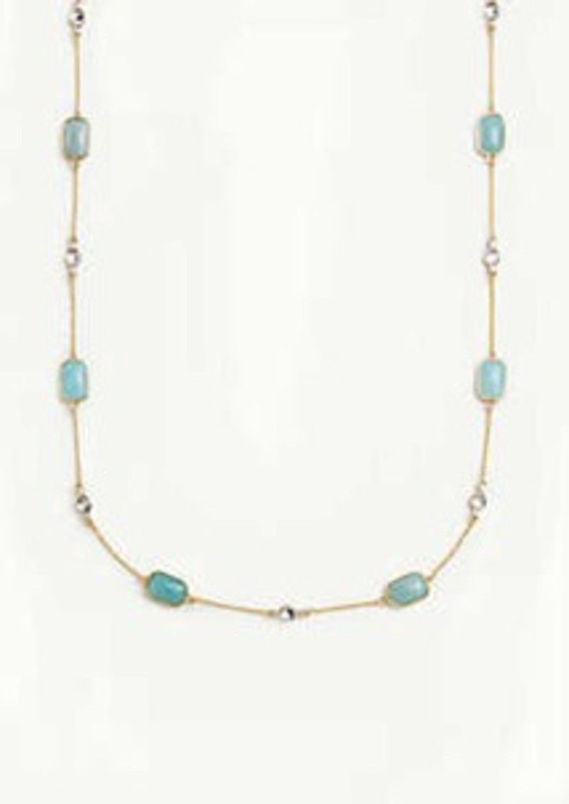 Ann Taylor Crystal Stone Station Necklace