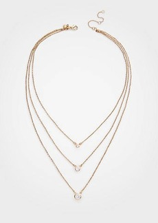 Ann Taylor Crystal Triple Layer Necklace