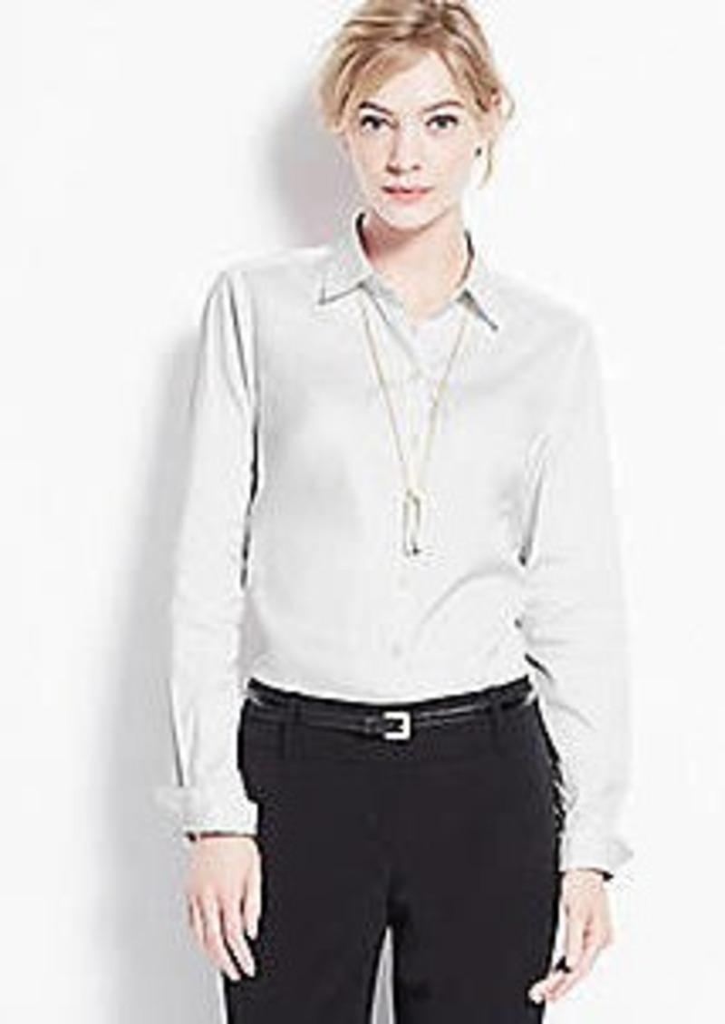 Ann Taylor Cttn LS Perfect Shirt