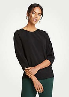 Ann Taylor Curved Sleeve Top
