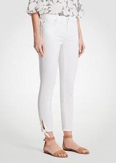 Ann Taylor Curvy Ankle Tie Skinny Crop Jeans