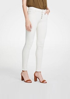 Ann Taylor Curvy Button Fly All Day Skinny Jeans