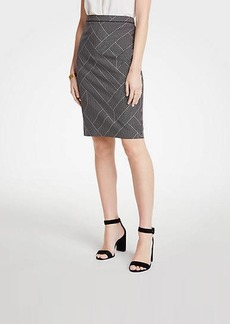 Ann Taylor Curvy Cross Stripe Pencil Skirt