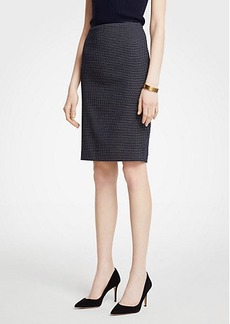 Ann Taylor Curvy Geo Check Pencil Skirt