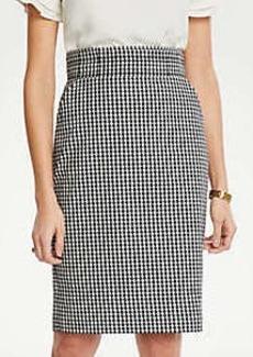 Ann Taylor Curvy Gingham Pencil Skirt
