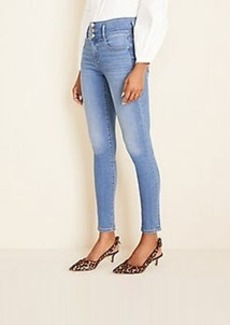 Ann Taylor Curvy High Rise Sculpting Pocket Skinny Jeans in Light Stone Wash