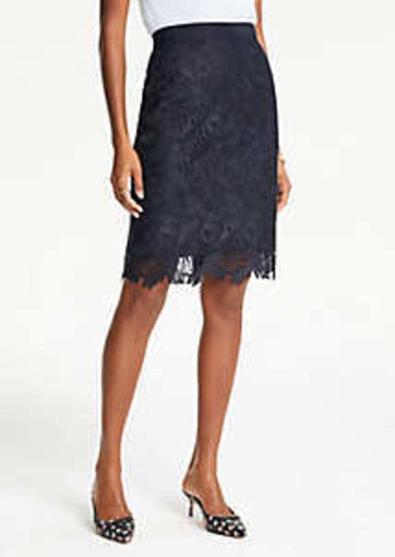 Ann Taylor Curvy Lace Pencil Skirt
