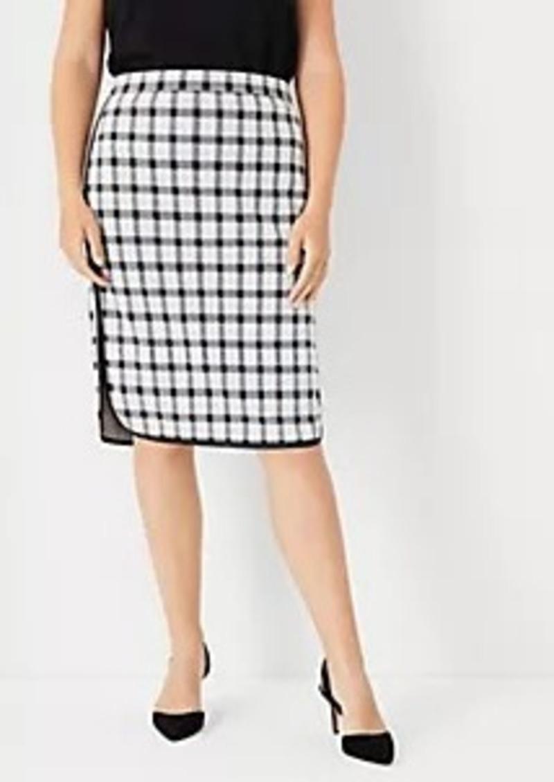 Ann Taylor Curvy Plaid Pencil Skirt