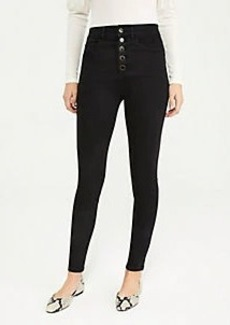 Ann Taylor Curvy Sculpting Pocket High Rise Skinny Jeans in Classic Black Wash