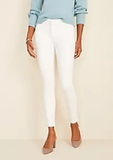 Ann Taylor Curvy Sculpting Pocket Skinny Jeans In White