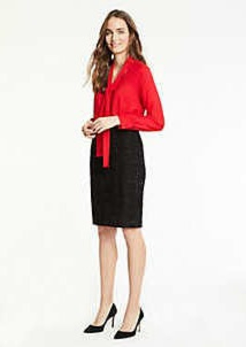 Ann Taylor Curvy Shimmer Tweed Pencil Skirt
