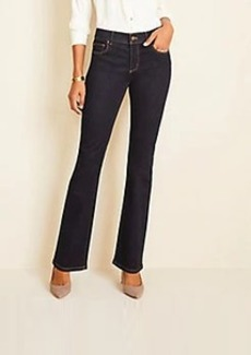 Ann Taylor Curvy Sculpting Pocket Slim Boot Cut Jeans in Classic Rinse Wash