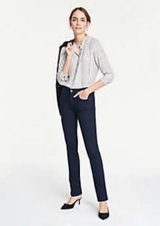 Ann Taylor Curvy Straight Leg Jeans in Evening Sea Wash