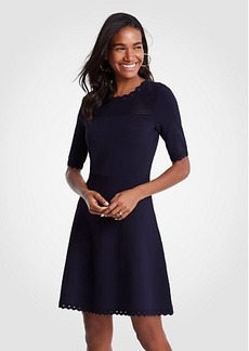 Ann Taylor Cutout Flare Sweater Dress