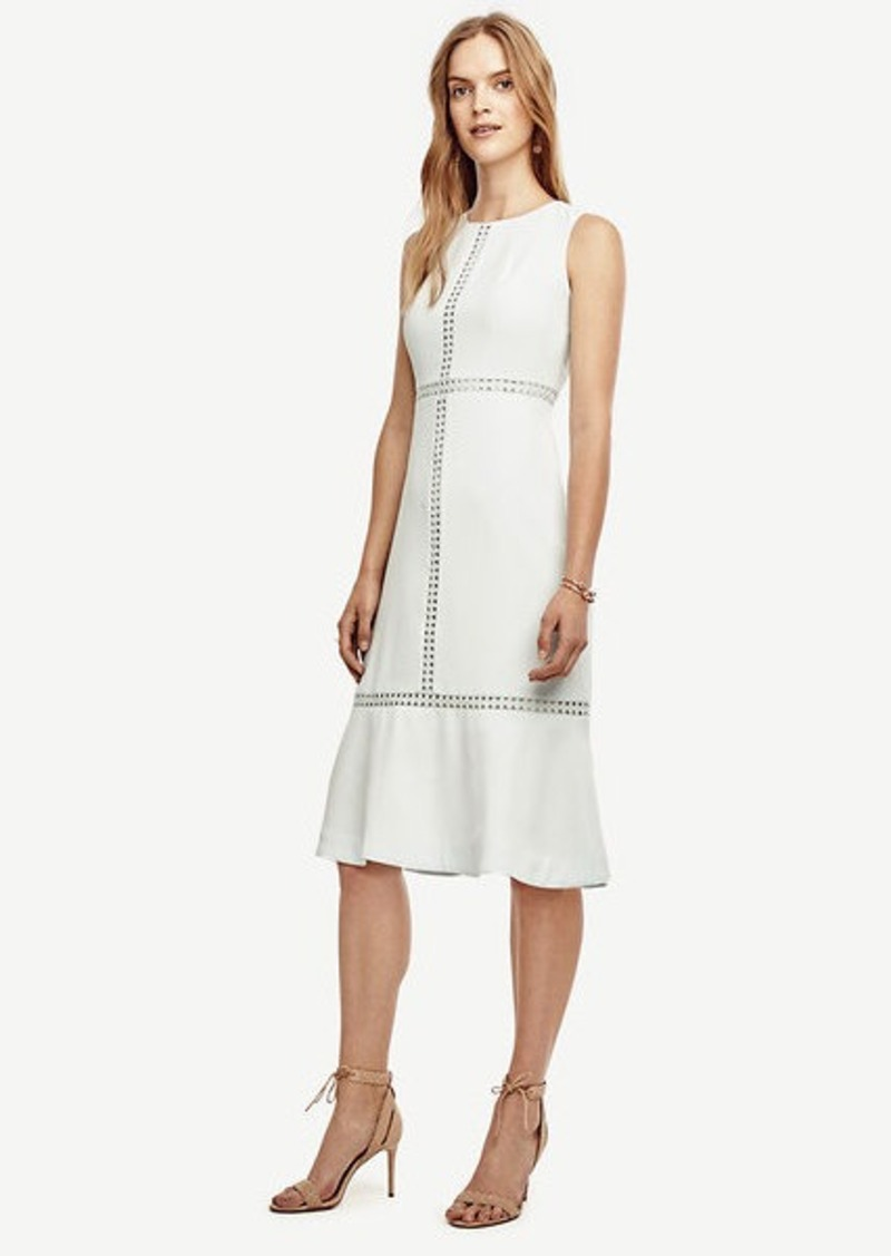 Ann Taylor Cutout Flounce Dress