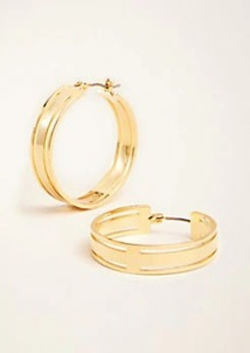 Ann Taylor Cutout Hoop Earrings