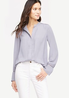 Cutout Pleated Blouse