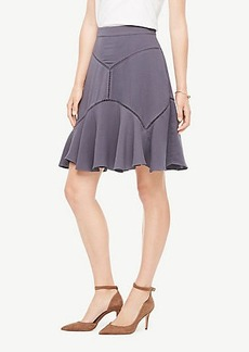Ann Taylor Cutout Seamed Skirt