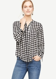 Daisy Cutout Pleated Blouse