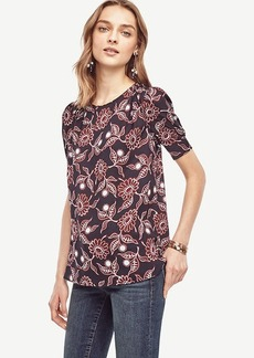 Daisy Shirred Short Sleeve Blouse