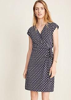 Ann Taylor Dashed Matte Jersey Wrap Dress