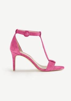 Demi Suede T-Strap Sandals