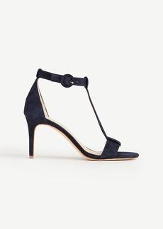 Ann Taylor Demi Suede T-Strap Sandals