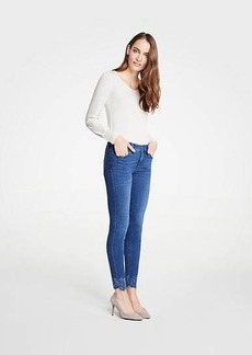 Ann Taylor Curvy Embroidered Floral All Day Skinny Jeans