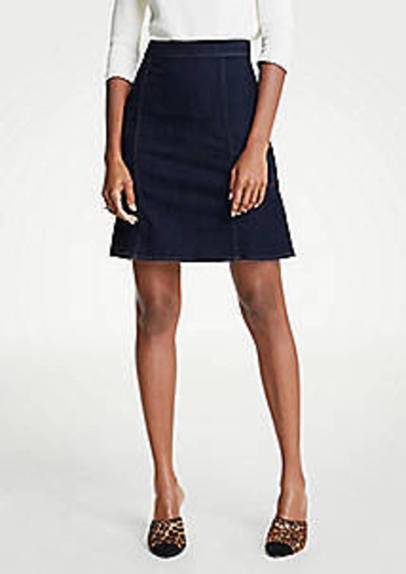 Ann Taylor Denim Flare Skirt