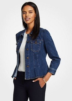 Ann Taylor Denim Peplum Jacket