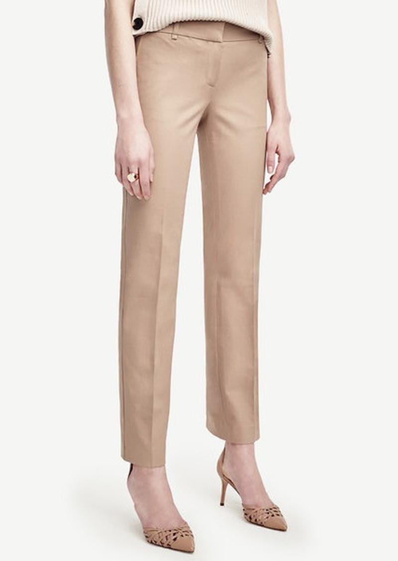 Ann Taylor Devin Cotton Blend Straight Leg Pants