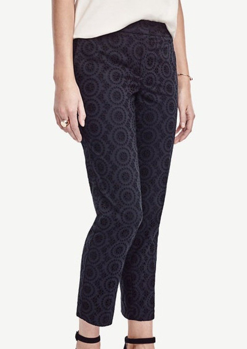 Ann Taylor Devin Eyelet Everyday Ankle Pants