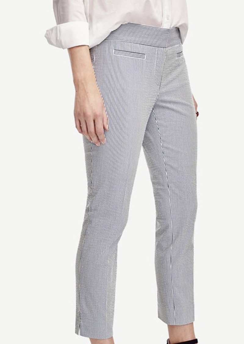 Ann Taylor Devin Seersucker Crop Pants