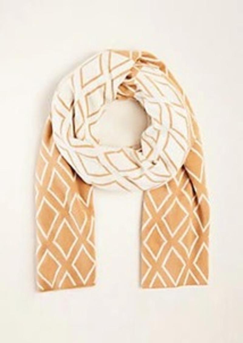 Ann Taylor Diamond Colorblock Blanket Scarf