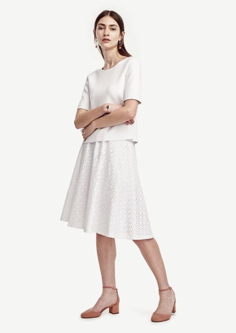 Ann Taylor Diamond Eyelet Skirt