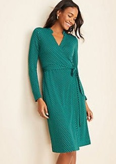 Ann Taylor Diamond Grid Wrap Dress