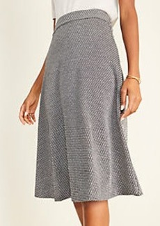 Ann Taylor Diamond Jacquard Full Skirt