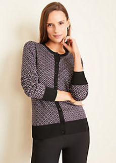 Ann Taylor Diamond Jacquard Seasonless Yarn Ann Cardigan