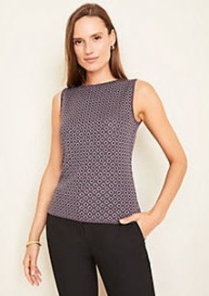 Ann Taylor Diamond Jacquard Seasonless Yarn Shell