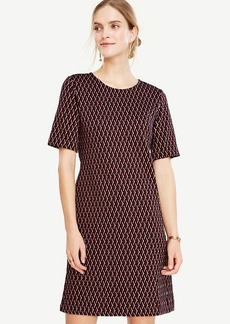 Diamond Knit Shift Dress