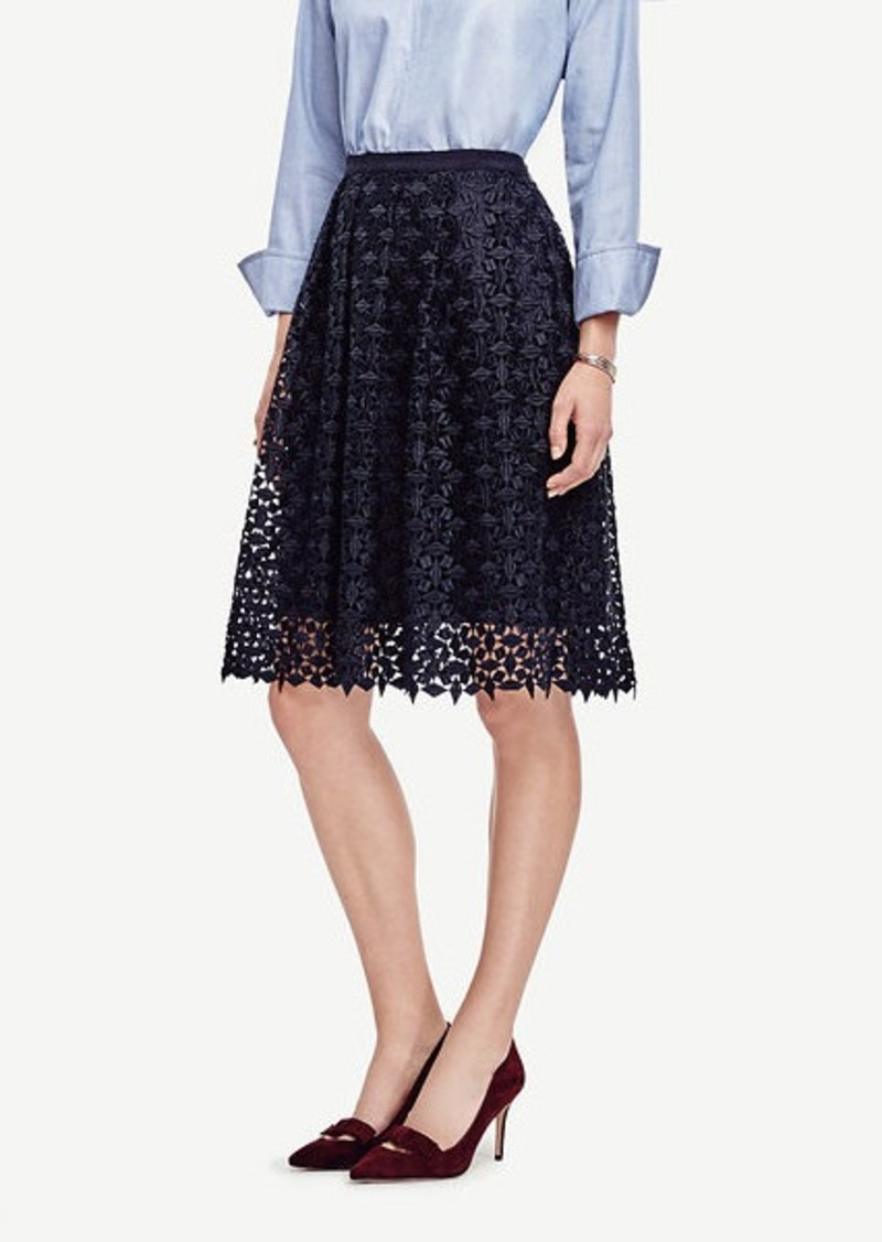 Ann Taylor Diamond Lace Skirt