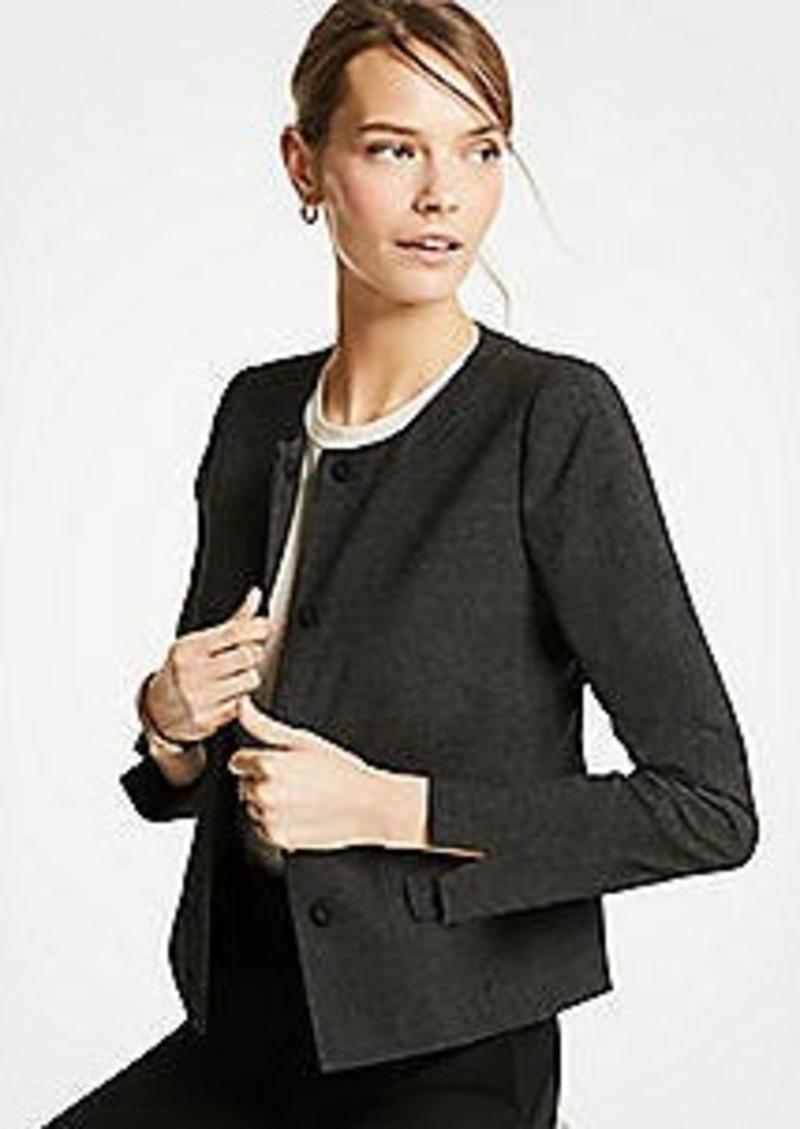 Ann Taylor Dobby Peplum Jacket