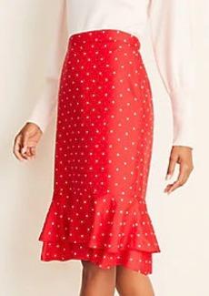 Ann Taylor Dot Double Flounce Skirt