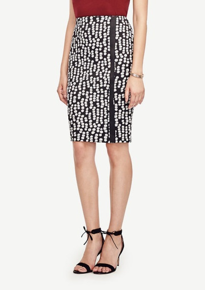 Ann Taylor Dot Jacquard Pencil Skirt