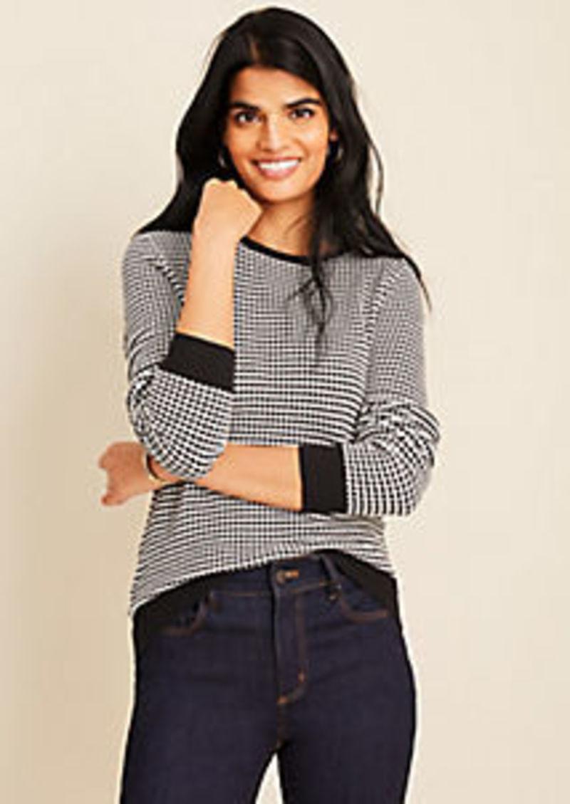 Ann Taylor Dot Jacquard Sweater