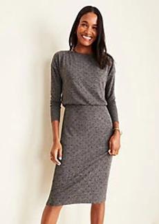 Ann Taylor Dot Shirred Sheath Dress