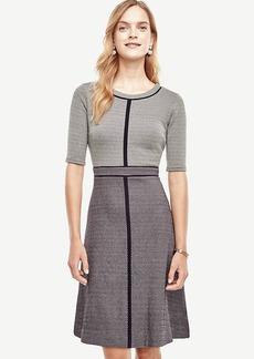 Dot Textured Flare Dress
