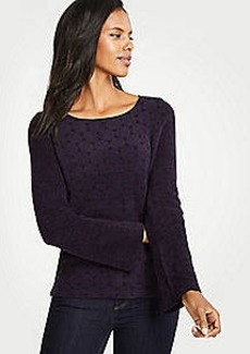 Ann Taylor Dotted Chenille Sweater