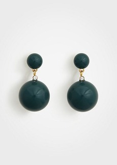 Ann Taylor Double Ball Drop Earrings